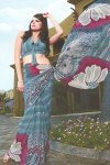 Faux Georgette Multicolor Printed Sarees Collection 2010