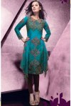 Green Churidar Salwar Kameez for Party Wear