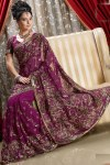 Latest Designer Saree with Hand Embroidery Work