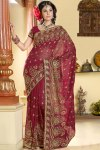 Newly Arrived Designer Saree in Red Color