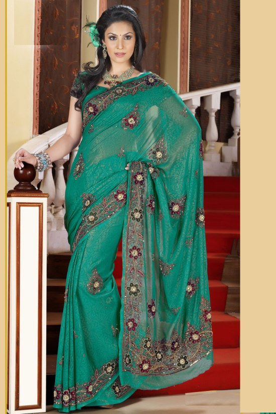 Newly Arrived Designer Sarees collection with Matching Saree Blouse