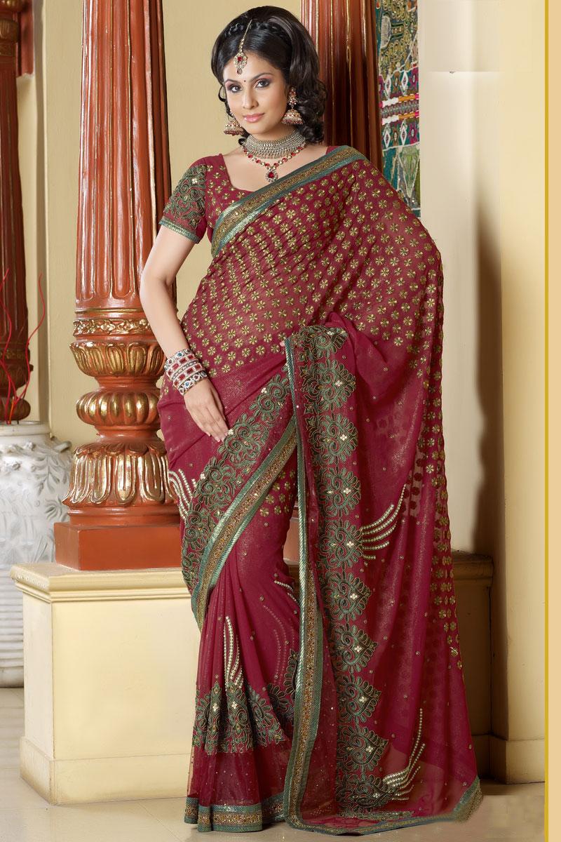 Trendy Indian Wedding Party Wear Ladies Designer Anarkali: Latest Designer Sarees 2011 Collection