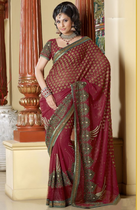 Designer Saree with Heavy Saree Border