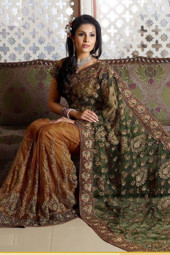 Green Designer Saree Collection 2011