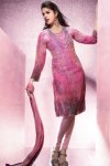 Wedding Churidar Salwar Kameez in Pink Color