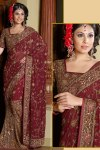 Lahenga Style Saree with Heavy Embroidery Work