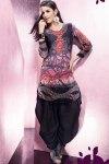 Printed Baggy Patiala Salwar Kameez 2011