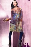 Printed Kameez with Black Churidar for Party Wear