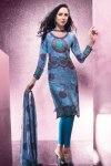Blue Party Churidar Salwar Kameez 2011