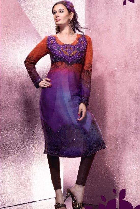 Designer Partywear Churidar Salwar Kameez 2011