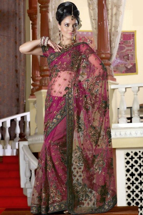 Lehenga Style Traditional Saree 2011