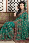 Deep Green Traditional Saree Collection 2011