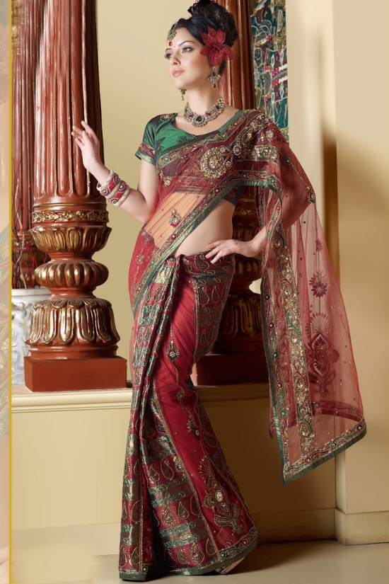 Lehenga Style Traditional Saree collection 2011