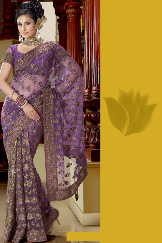 Violet Traditional Saree Collection 2011