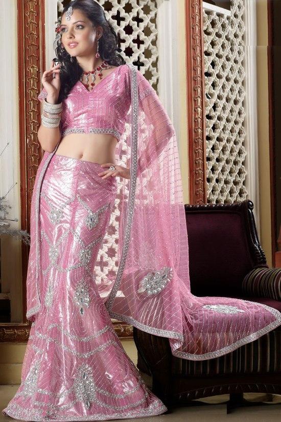 Pink Wedding Lehenga Choli for 2011