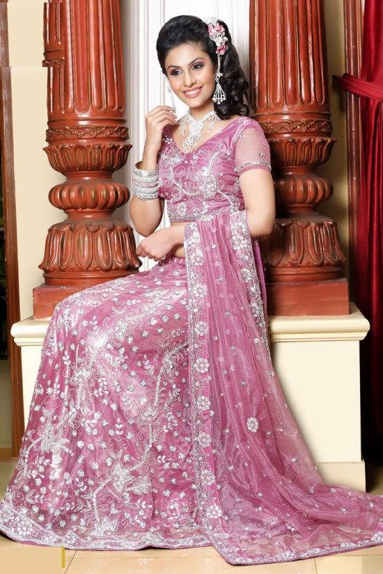 Light Pink Wedding Lehenga Choli for 2011