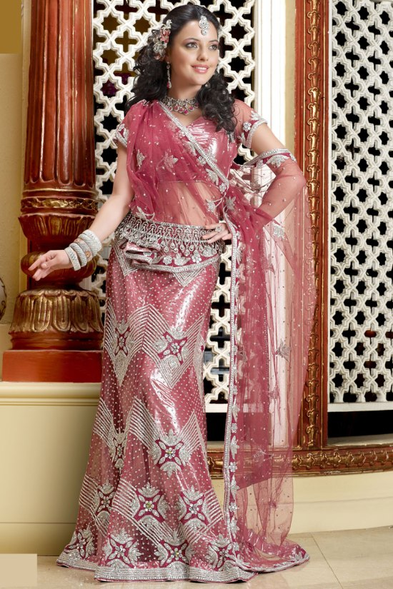 Brink Pink Wedding Lehenga Choli for 2011