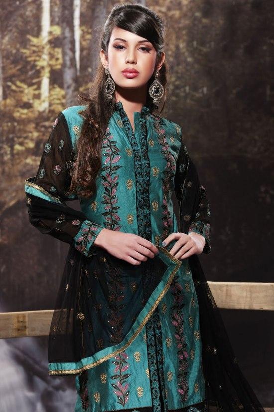 Full Sleeves Churidar Salwar Kameez Collection 2011