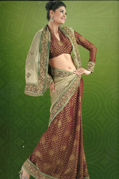 Latest Collection Embroidered Saree