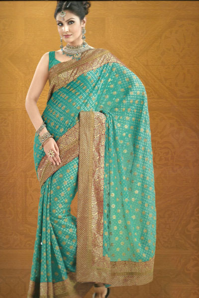 Newly Arrived Embroidered Saree