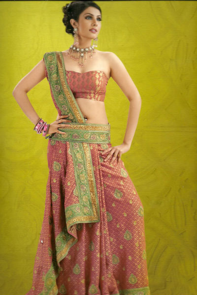 Newly Arrived Embroidered Saree With Matching Saree Blouse