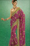 Embroidered Party Saree Latest Collection 2011