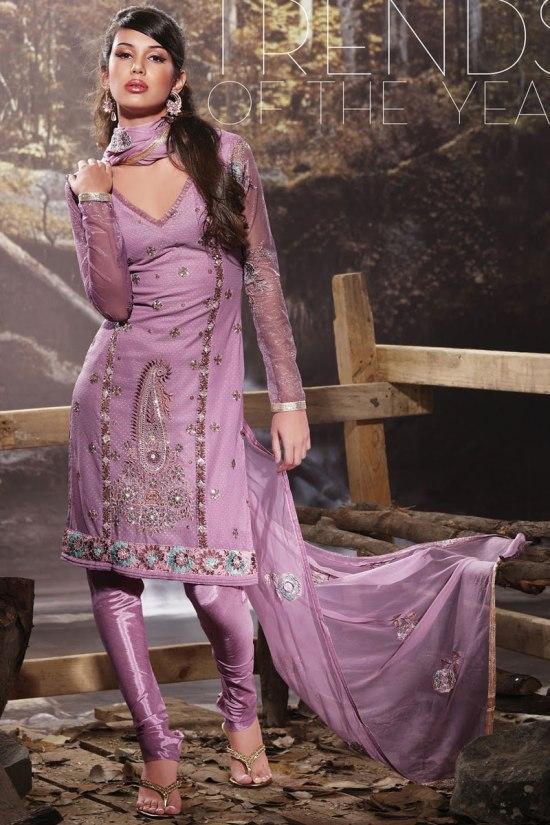 Light Purple Churidar Shalwar Kameez collection