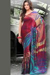 Abstract Printed Party Saree