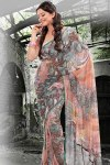 Floral Printed Party Sarees 2011