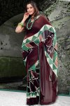 Designer Printed Party Sarees 2011