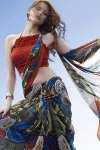 Designer Abstract Printed saree