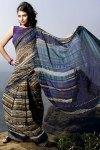 Purple Printed Casual Wear Sarees 2011