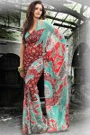 Printed Party Saree 2011 Collection