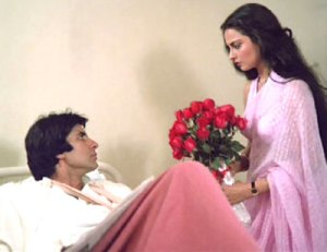 rekha saree in silsila