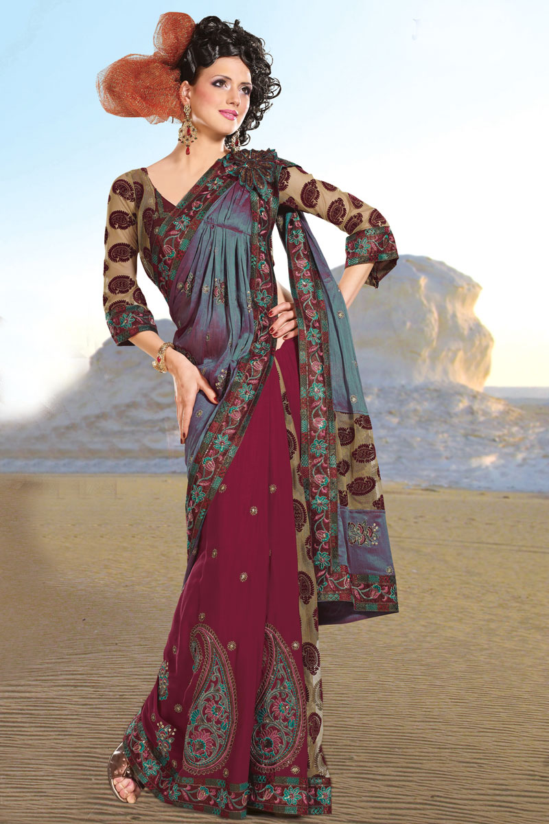 Check Out The Latest Saree Trends For 2011