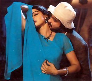 sridevi chiffon saree in mr india