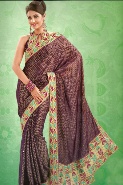 Latest Traditional Party Saree For The Year 2011