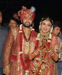 Shilpa shetty in red bridal saree