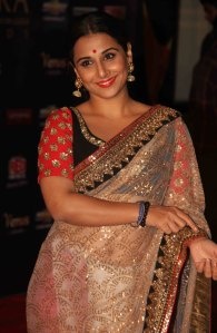 vidya balan in sabyasachi mukherjee saree at apsara awards 2012