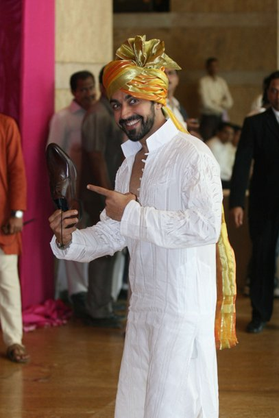 ashish chowdhary in white punjabi at ritesh genelia wedding party