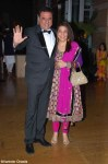 boman irani with wife at ritesh genelia reception party