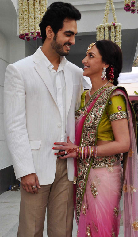 esha deol with her fiance at her engagement party