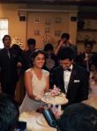 genelia in a white gown in her wedding