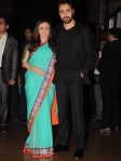 imran khan with wife at genelia ritesh reception party