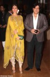 jacqueline fernandez in a yellow salwar kameez with sajid khan at genelia ritesh reception party
