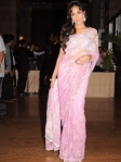 jia khan in a saree at ritesh genelia reception party