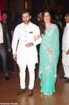 kareena kapoor in a designer saree with saif ali khan at genelia ritesh reception party