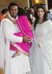 Leander paes with wife attending ritesh genelia wedding party