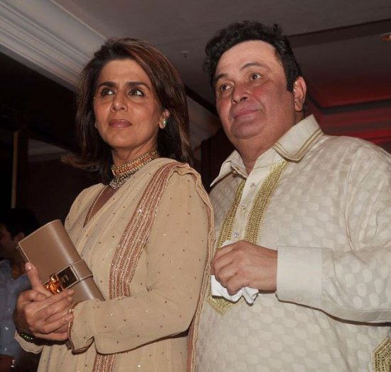 rishi kapoor and neetu kapoor at genelia and ritesh sangeet ceremony