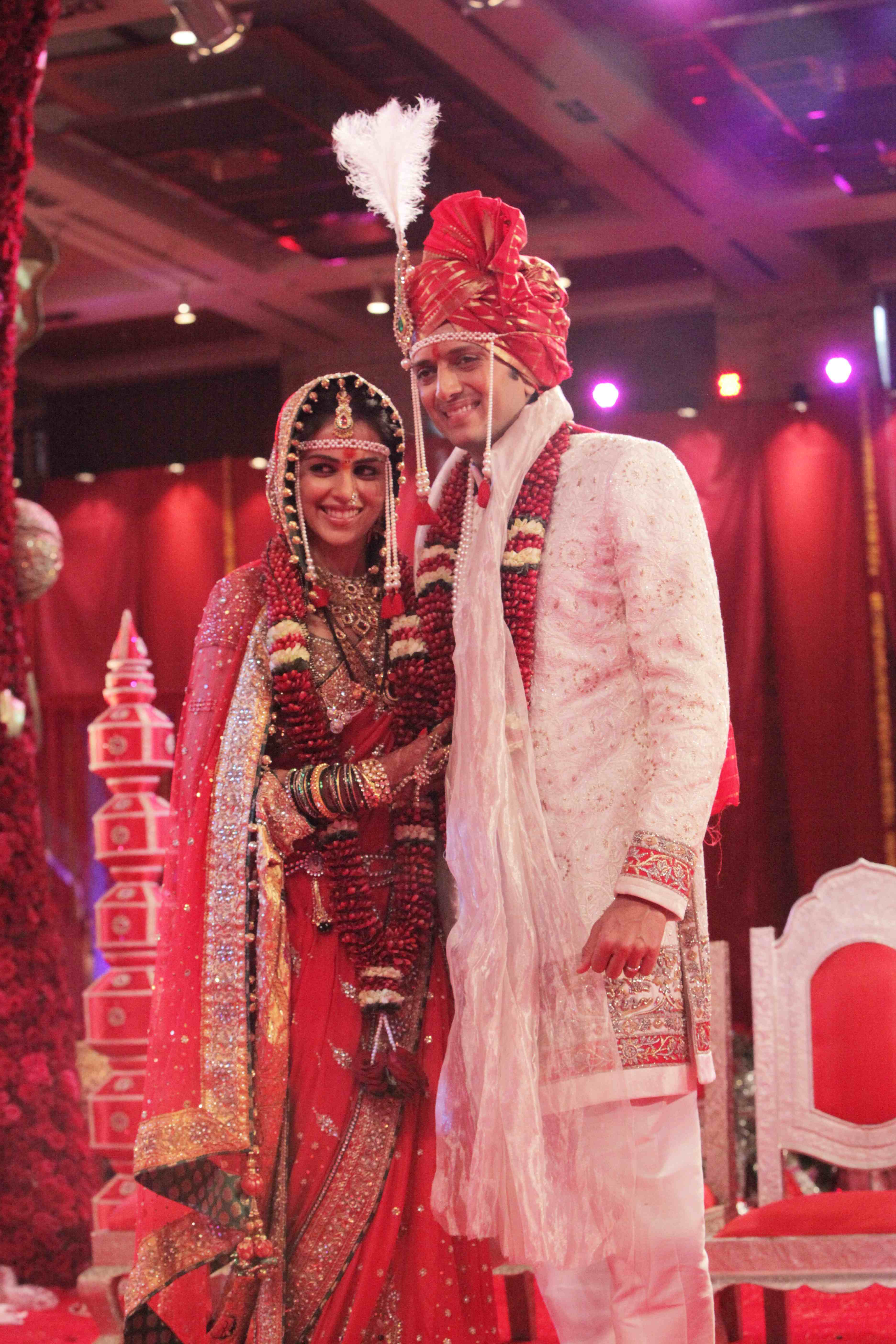 Genelia Marriage Reception Photos Just Married : Ritesh ...